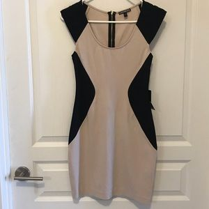 Expected by Lilac Dresses - Black and cream dress